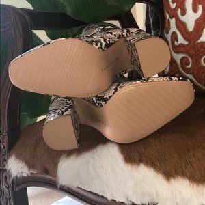 Zara Shoes - 🔥ZARA Heeled Snakeskin Print Boots🔥